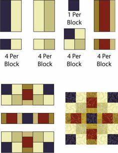 Easy Quilt Block Patterns: Offset Squares