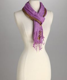Take a look at this Lavender Embellished Scarf by Raj Imports on #zulily today!