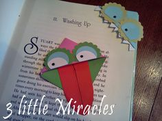 3 little Miracles: Monster Page Corner Bookmarks