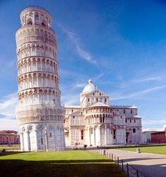 Faldende bygning & videnskab.  Hvis det ikke havde bygget det skæve tårn i Pisa, ville Galileo ikke havde opdaget, at tyngdeaccelerationen ikke afhænger af masse http://www.photo-travels.org/dk/foto/57/