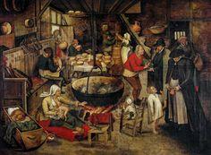 17_Питер Брейгель младший Адский (1564-1638) Посещение крестьянского дома_дерево (дуб) масло