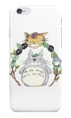 """""""Totoro Catbus"""" iPhone Cases & Skins by Pendientera   Redbubble"""
