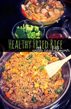 Healthy Cauliflower Fried Brown Rice – Simply Taralynn