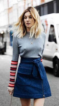An A-Line Denim Skirt