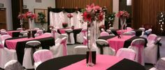 Beautiful black white and pink decorations wedding-stuff