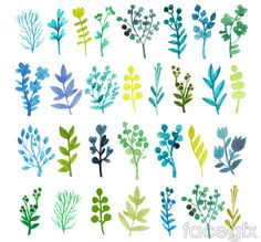 Free download Watercolor 30 branches and flowers vector. Free vector includes flowers, water, branch, plant, grass, vector plant. Category: Vector plant