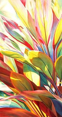 shelly maudsley - love this painting of canna leaves...!