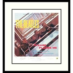 "Amanti Art The Beatles- Please Please Me (Album Cover) Framed Print Art - 27.04"" x 25.04"" - DSW01328"
