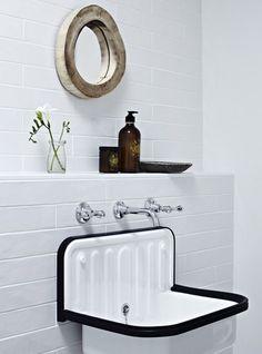 Alape (german) sink. -tiny-white-bathroom-1-source: remodelista