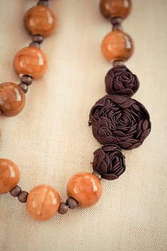 Ric-Rac Rose Bead necklace