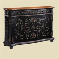 Chambery Crackle Gilded Sideboard 50 007CR. h1Chambery Crackle Gilded Sideboard 50 007CR_h1The Chambery Crackle Gilded Sideboard 50 007CR is just 13 inches deep! So much style in such a small footprint�with raised appliques, an interesting crackle finish and a wood.. . See More Sideboards at http://www.ourgreatshop.com/Sideboards-C669.aspx