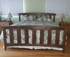 Patti Smith Wide Slat Bed in Walnut. The perfect bed for the luxurious rustic or shabby chic bedroom.