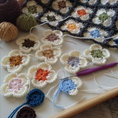 Orla Kiely inspired crochet