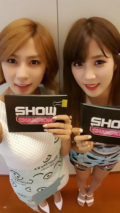 Chorong! With Hayoung | Show Champion Twitter update