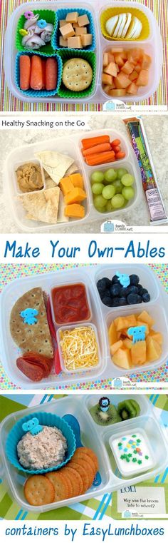 Homemade Lunchable Ideas It's easy (and healthier) to make your own version of the -able lunch! Packed in easy (and healthier) to make your own version of the -able lunch! Whats For Lunch, Lunch To Go, Lunch Meal Prep, Lunch Time, Lunch Snacks, Lunch Recipes, Baby Food Recipes, Healthy Recipes, Healthy Lunches