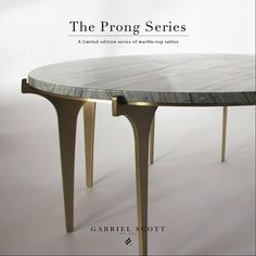 """We are also introducing the PRONG Series. A limited edition series of metallic tables with various marble tops. #ICFF"""
