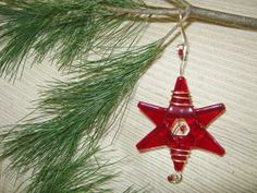 Holiday Decorating / Christmas Star / Ruby Red / Ornament by IntheShadeoftheSycamoreTree for $11.05