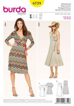 Burda B6759 Dresses Sewing Pattern
