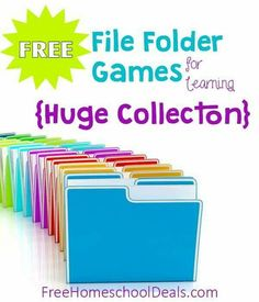 Free File Folder Games for Homeschool Learning and Fun! {HUGE Collection} – Kelly Free File Folder Games for Homeschool Learning and Fun! {HUGE Collection} Free File Folder Games for Homeschool Learning and Fun! File Folder Games, File Folder Activities, File Folders, File Folder Organization, Game Organization, Classroom Activities, Learning Activities, Special Education Activities, Classroom Ideas