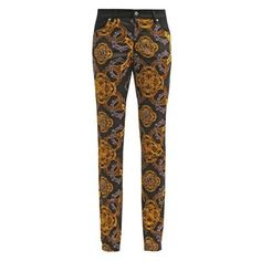 Versace Jeans Trousers nero ❤ liked on Polyvore featuring pants, versace, brown pants, brown trousers, versace pants and versace trousers