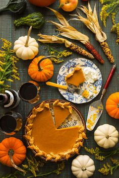 Homemade Pumpkin Pie - Food photography and prop styling. By Paul S. Bartholomew. Food styling by Andrea Bartholomew.