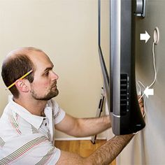 How to hide TV components for flat screen: another idea if DH doesn't like the framing idea