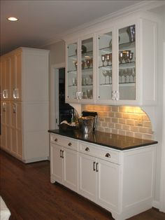 West End Cabinet Company: Fieldstone Photo Gallery - (white white counters) diy Dining room hutch diy Dining room hutch Built In Buffet, Built In Hutch, Kitchen Redo, New Kitchen, Kitchen Remodel, Country Kitchen, Dining Room Hutch, Dining Furniture, Dining Rooms