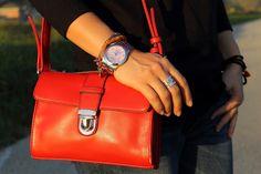 #details #red #bag