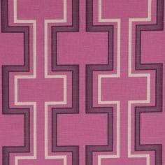 Maze Fabric - Cerise (EM116) - Wilman Interiors Chantilly Fabrics Collection