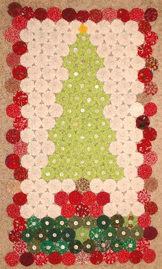 yo-yo #advent #calendar #quilt