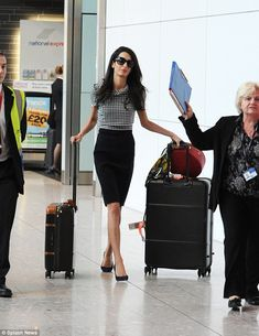 Amal Clooney home after being named most 'influential woman in London' | Daily Mail Online
