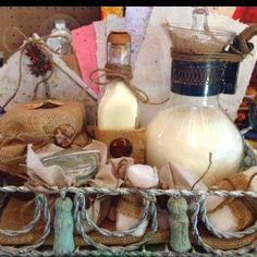 Bath milk, sugar scrub, soap, and paper DIY!