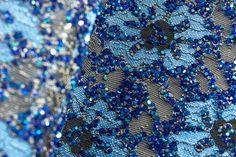 Foglio termoadesivo effetto pizzo blu zaffiro