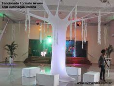 Lycra Tensionada para festas e eventos... Informações 11 3331-3318 email:producao@x2eventos.com.br : Arte em lycra tensionada com iluminação interna..Informações 11 3331-3318 ou 11 95367-5155