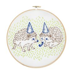 Hedgehog Party Embroidery Kit