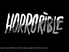 HORRORible | Designer: Richard Perez - http://skinnyships.com