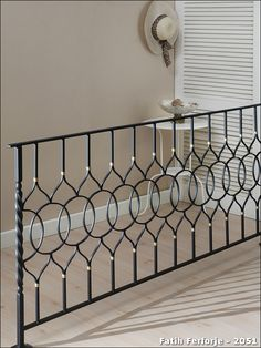 Wrought iron example of realization: 2051 - Iron Staircase, Iron Stair Railing, Wrought Iron Stairs, Staircase Railings, Staircase Design, Bannister, Terrace Grill, Balcony Grill Design, Balcony Railing Design