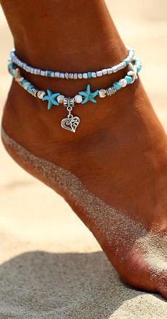 Bohemian Summer Beach Anklet #jewelry #anklet #bohemian #gypsy #fashion #summer #hot #sea #ocean