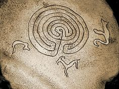 Syrdon labyrinth.  Relief on the stone, Mahchesk, North Ossetia.        http://mshwan1.livejournal.com/144028.html