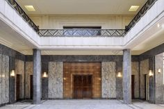 Hall de la villa Empain, Bruxelles, Belgium.
