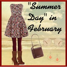 """""""""""Summer Day"""" in February"""" by cbslifestylist on Polyvore"""