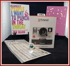 """People I Want to Punch in the Throat: 12 Days of Giveaways! DAY EIGHT! """"Take a Picture, It Will Last Longer Featuring Just a Few People I Want to Punch in the Throat. Polaroid One Step, Instant Film Camera, Eight, 12 Days, Drinking Tea, Giveaways, Punch, Best Gifts, Things I Want"""