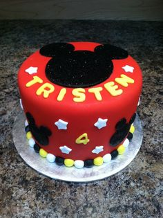 mickey mouse cakes | Custom Cakes By Denise: Mickey Happy Birthday