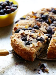 Blueberry Streusal Almond Coffee Cake - Photo Jennifer Davick #recipe