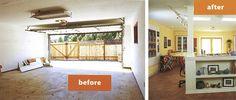 Makeover 7: Converting a garage into a dream studio
