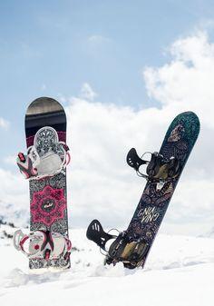 Beautiful boards for the girls <3 @romesnowboards #gnu #bluetomato