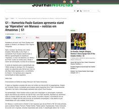 G1 – Humorista Paulo Gustavo apresenta stand up 'Hiperativo' em Manaus – notícias em Amazonas   G1