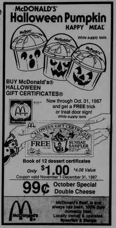 Old Halloween Newspaper Ads,