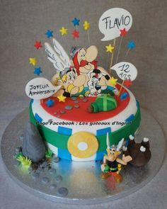 """Asterix et obelix gateau. Cree par : """" Les gateaux d Ingrid """" ( facebook"""