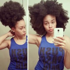 Olivia from Detroit // 4B/C Natural Hair Style Icon | Black Girl with Long Hair